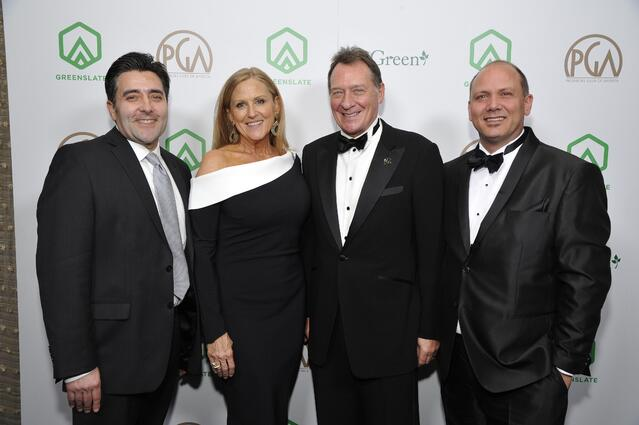 GreenSlate's William Hays, PGA Presidents Lori McCreary and Gary Lucchesi, and GreenSlate's William Baker attend the 29th Annual Producers Guild Awards supported by GreenSlate at The Beverly Hilton Hotel on January 20, 2018 in Beverly Hills, California. (Photo by John Sciulli/Getty Images for GreenSlate)