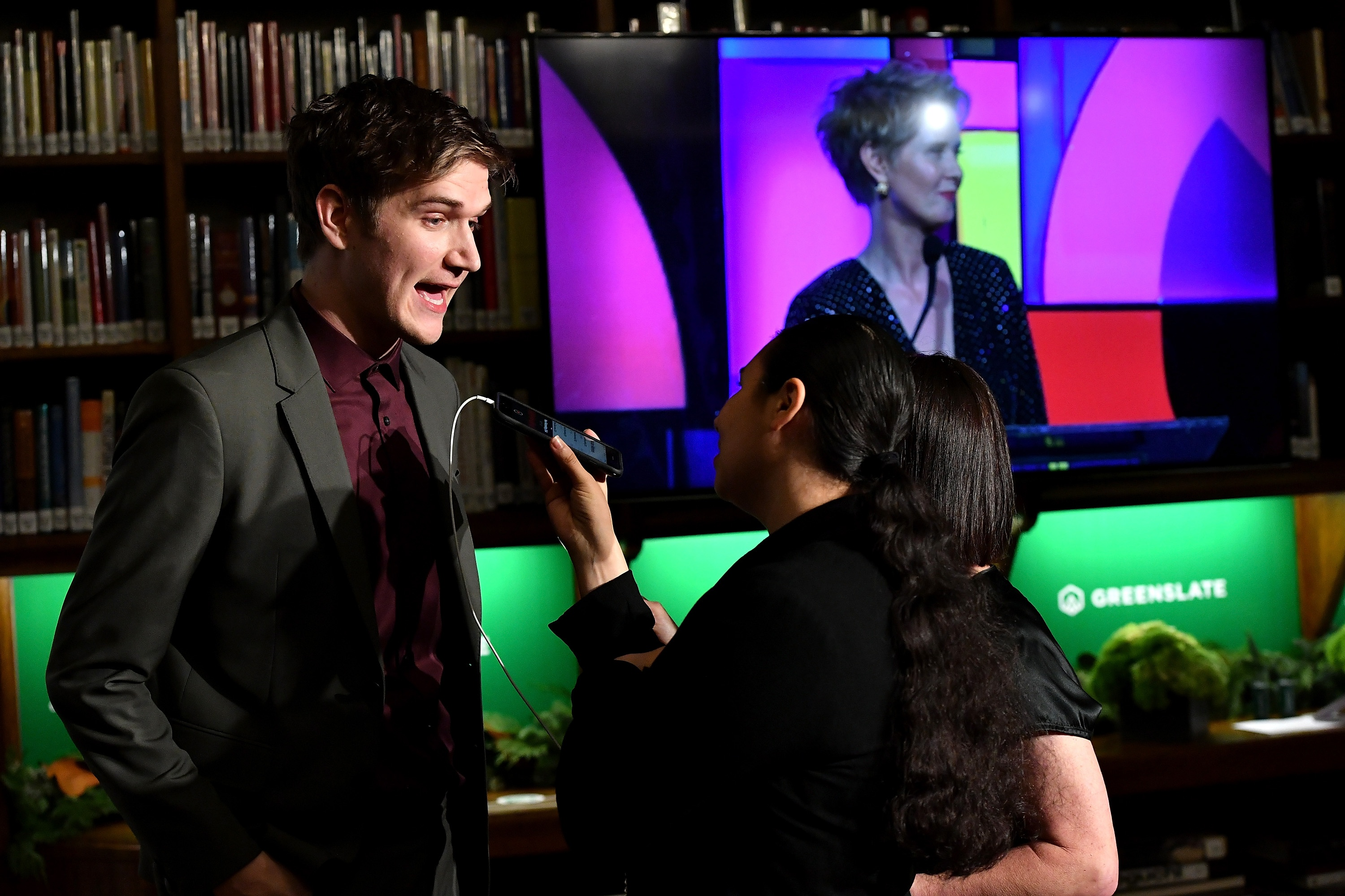 Bo Burnham backstage in the GreenSlate Greenroom during IFP's 28th Annual Gotham Independent Film Awards at Cipriani, Wall Street on November 26, 2018 in New York City.
