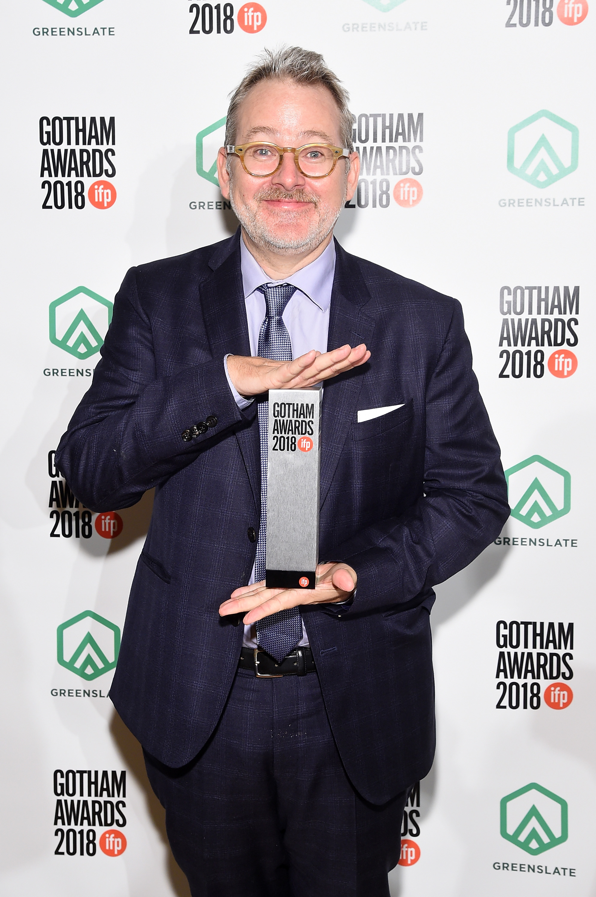 Morgan Neville backstage in the GreenSlate Greenroom during IFP's 28th Annual Gotham Independent Film Awards at Cipriani, Wall Street on November 26, 2018 in New York City.