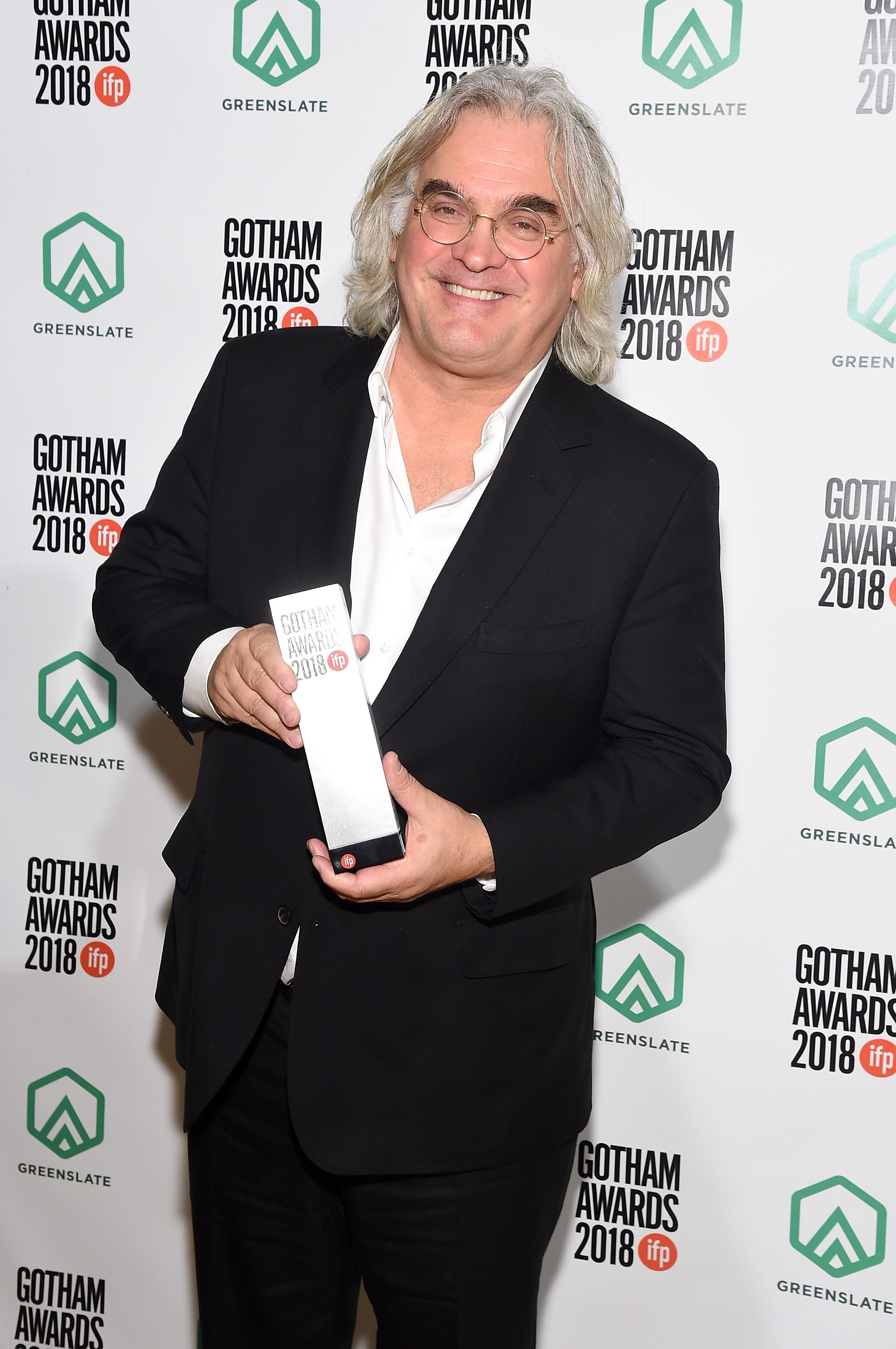 Paul Greengrass backstage in the GreenSlate Greenroom during IFP's 28th Annual Gotham Independent Film Awards at Cipriani, Wall Street on November 26, 2018 in New York City.