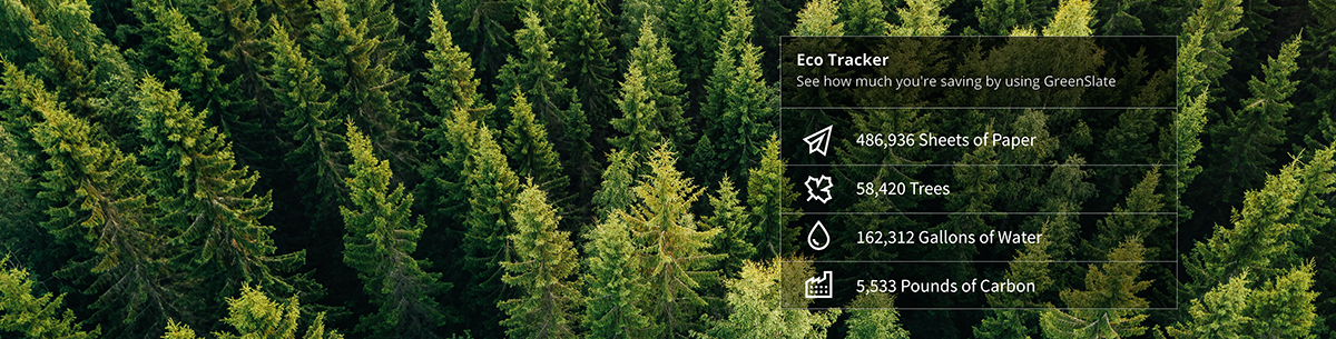 GreenSlate eco tracker statistics